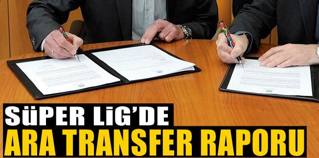 İşte Süper Lig'de ara transfer raporu