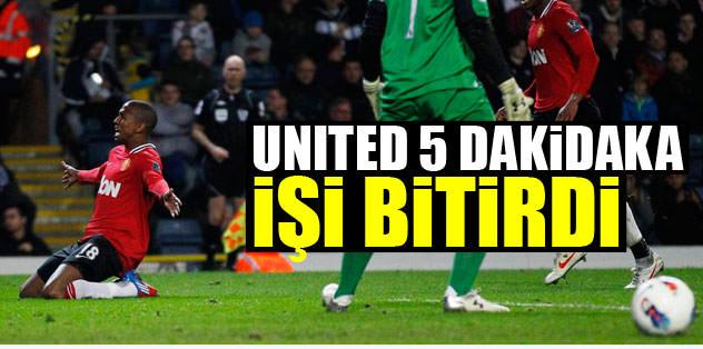 United 5 dakikada işi bitirdi