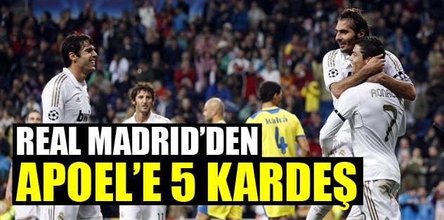 Real Madrid'den APOEL'e 5 kardeş