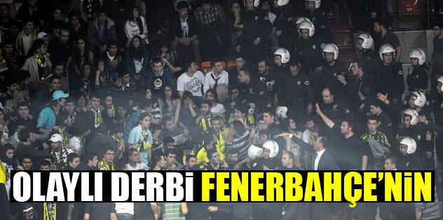Olaylı derbiyi Fenerbahçe kazandı