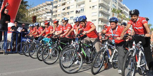 Bisiklette dev heyecan