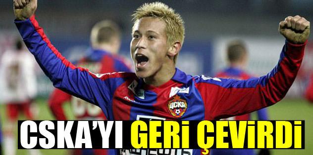 CSKA'yı geri çevirdi