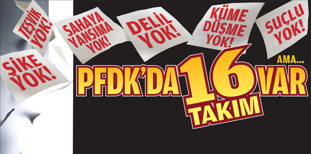 PFDK'da 16 takım var