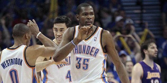 Thunder, Lakers'ı saf dışı bıraktı
