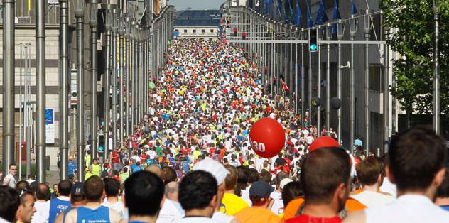 Halk koşusuna 33 bin kişi katıldı