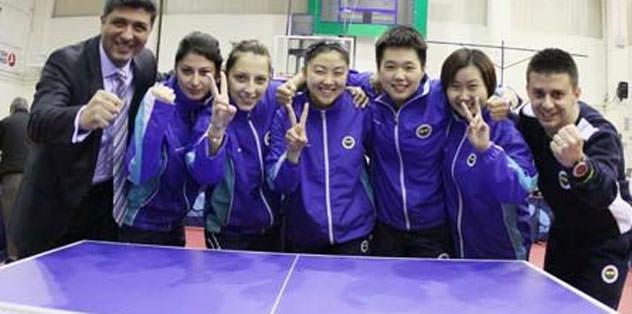 Masa tenisinde beşinci şampiyonluk