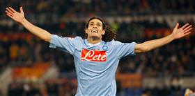 Manchester City gazes upon Edinson Cavani