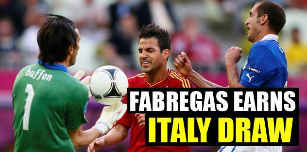 Fabregas earns İtaly draw