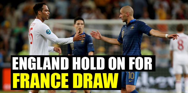 England hold on for France draw