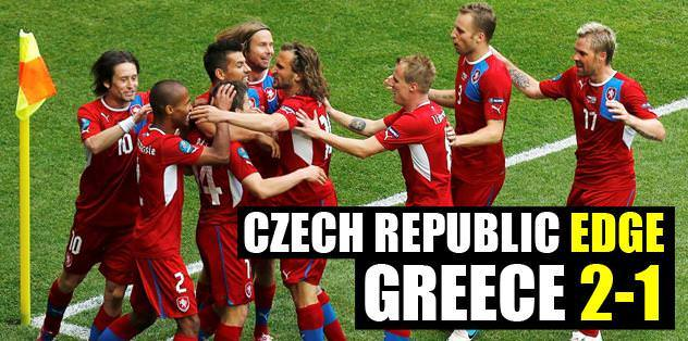 Czech Republic edge Greece 2-1
