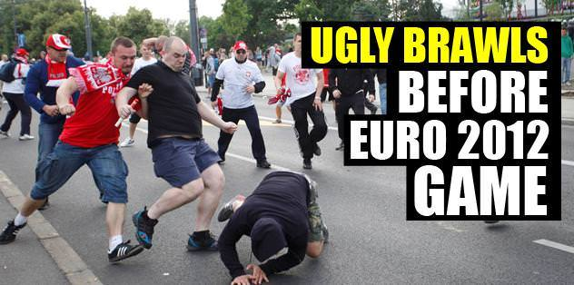 Ugly brawls before EURO 2012 game