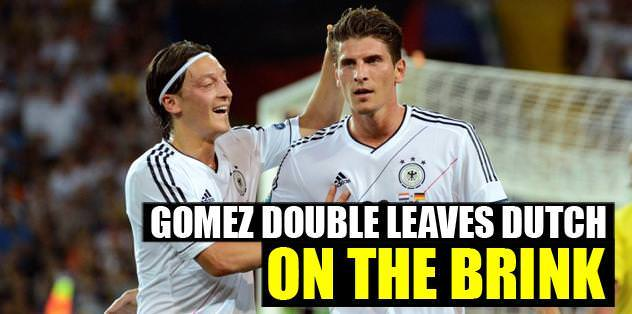 Gomez double leaves Dutch on the Brink