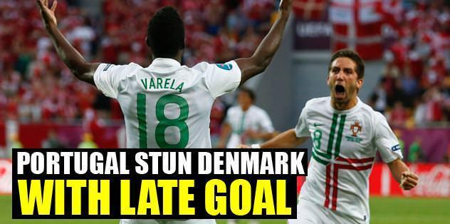 Portugal stun Denmark with late goal