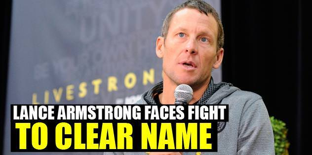 Lance Armstrong preparing for a fight
