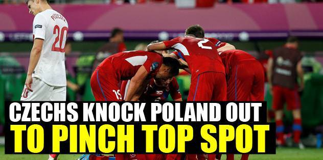 Czechs knock Poland out to pinch top spot