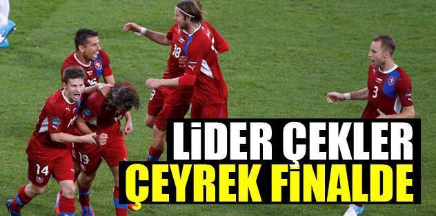 Lider Çekler çeyrek finalde
