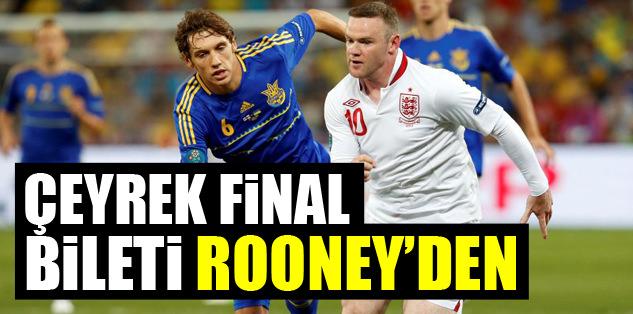 Çeyrek final bileti Rooney'den