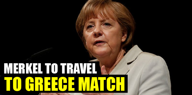 Merkel to travel to Greece match