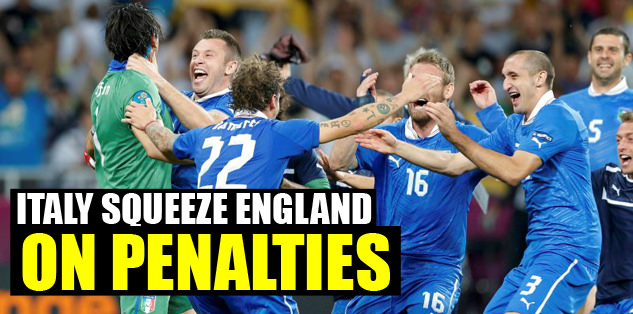 Italy squeeze England on penalties