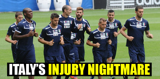 Italy's injury nightmare