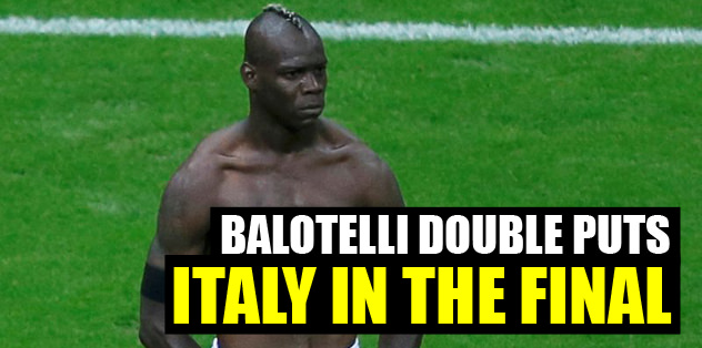 Balotelli double puts Italy in final