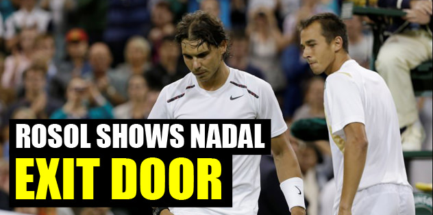 Rosol shows Nadal exit door