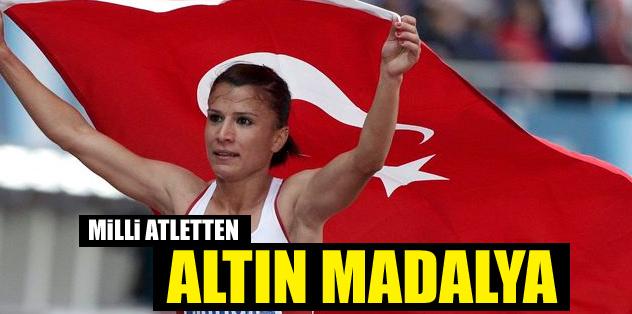 Atletizm'de altın madalya!