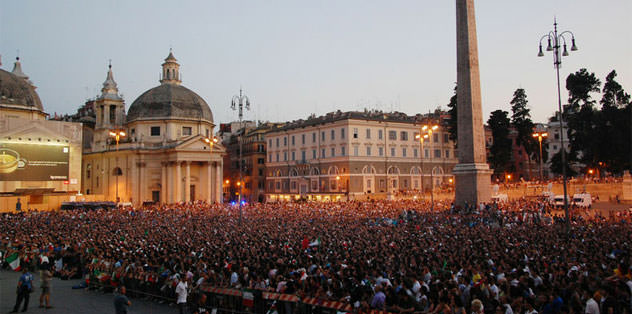Roma'da dört dev ekrandan final keyfi