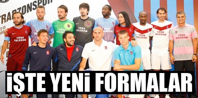 Trabzonspor yeni formalar�n� tan�tt�