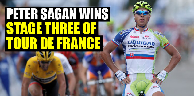 Peter Sagan wins stage three of Tour de France