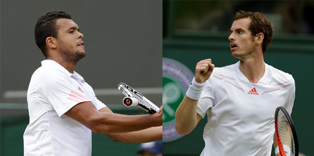 Tsonga ve Murray yarı finalde