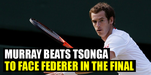 Murray beats Tsonga to face Federer in the final