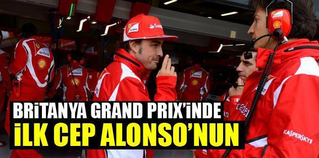 Britanya Grand Prix'inde ilk cep Alonso'nun
