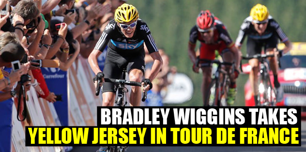Bradley Wiggins takes yellow jersey in Tour de France