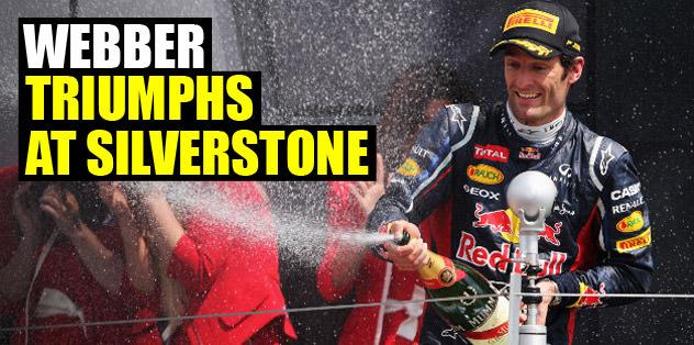Webber triumphs at Silverstone