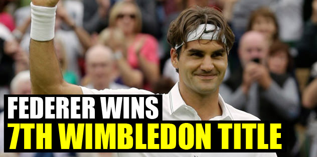 Federer wins his 7th Wimbledon title