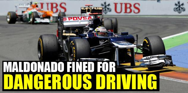 Maldonado fined for dangerous driving