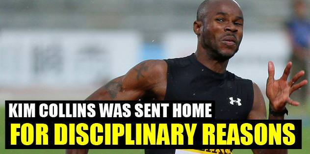 Kim Collins was sent home