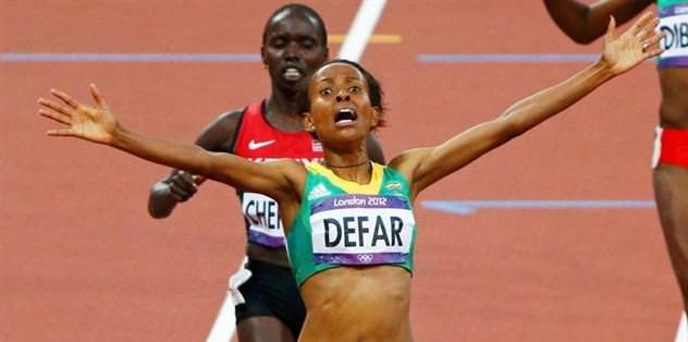 5000 metrede altın madalya Defar'ın