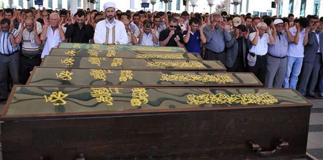 Cenazeler ailelere gönderildi