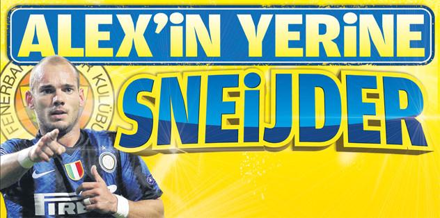 Alex'in yerine Sneijder