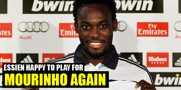 Essien is happy to play for Mou again