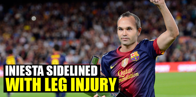 Iniesta sidlined with leg injury