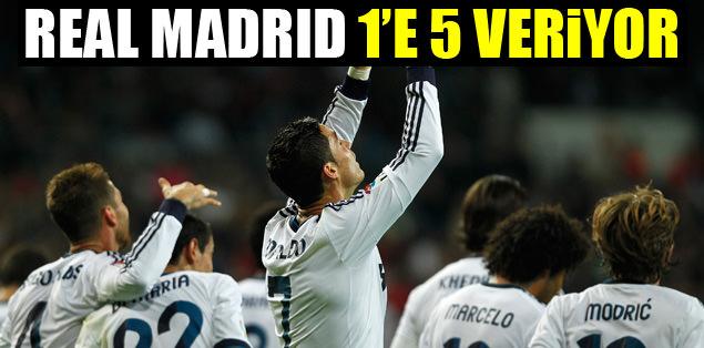 Real Madrid 1'e 5 veriyor