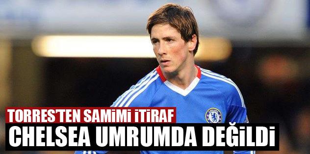 Torres'ten samimi itiraf