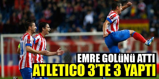 Atletico'dan 3'te 3