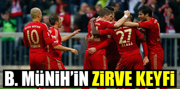 Bayern'in zirve keyfi