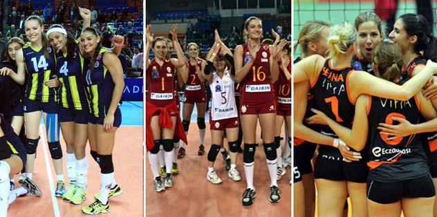 3 Türk takımı play-off'ta!