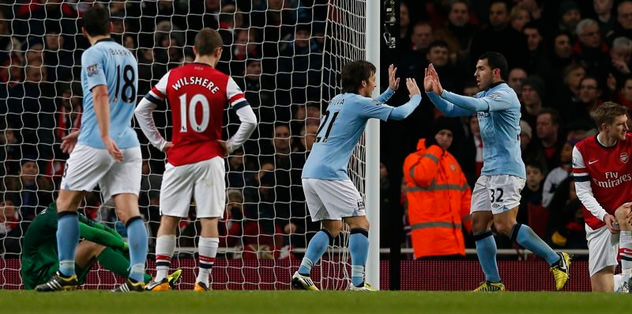 City, Arsenal'in cezasını ilk yarıda kesti