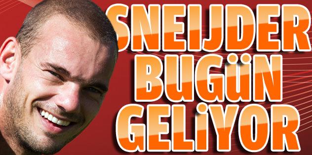 Sneijder bugün geliyor